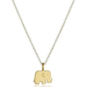 Elephant Pendant Necklace - Gold color